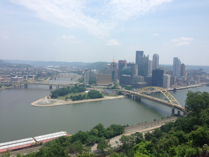 Downtown Pittsburgh from the Duquense Incline.